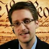 Et screendump af Edward Snowden, da han over en videoforbindelse deltog i en paneldiskussion om internet-sikkerhed og -anonymitet ved konferencen SXSW i Austin, Texas, 10. marts 2014.