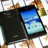 Sådan ser den ud, den angiveligt nordkoreansk producerede Arirang-telefon med Android. Foto: KCNA/Reuters/Scanpix