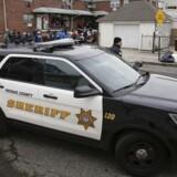 Arkivfoto. New Jersey politibil.