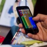 Googles mobilstyresystem Android er på rekordtid blevet så udbredt, at næsten 85 procent af alle nye smartphonetelefoner leveres med Android. Det har fået EU til at rette søgelyset mod Google. Arkivfoto: Nelson Almeida, AFP/Scanpix
