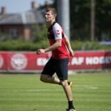Andreas Bjelland var en del af den danske VM-bruttotrup, men blev siet fra den endelige trup på 23 spillere, da landstræner Åge Hareide mente, at forsvarsspilleren var for skadet. Liselotte Sabroe/Ritzau Scanpix