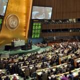 Den amerikanske efterretningstjeneste NSA har også aflyttet FNs interne videokonferencesystem, afslørede det tyske nyhedsmagasin Der Spiegel 25. august. Arkivfoto: Stan Honda, AFP/Scanpix