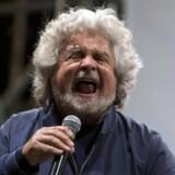 Den italienske komiker Beppe Grillo har som politiske mærkesager opgøret med den korrupte elite og en økonomi med fokus på økologi og bæredygtighed samt direkte demokrati. Arkivfoto: Massimo Percossi