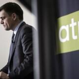 Arkiv foto: Carsten Stendevad, topchef for ATP, fremlægger ATPs årsregnskab på et pressemøde torsdag d. 30. januar 2014. (Foto: Thomas Lekfeldt/Scanpix 2014)