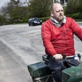 Om få år vil de danske bude cykle rundt i blå postuniformer. Foto: Asger Ladefoged