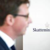 Pressemøde i Skatteministeriet med Skatteminister Karsten Lauritzen, som fremlægger handlingsplan for SKAT.