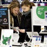Salget af tavle-PCer blev i januar-marts mindre end for et år siden, til gengæld købte danskerne langt flere bærbare PCer. Arkivfoto: Nils Meilvang, Scanpix