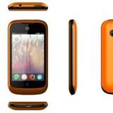 Den orange mobiltelefon er udstyret med et helt nyt styresystem, Firefox OS, som har vakt stor opsigt. Foto: ZTE