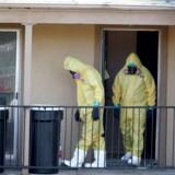 Arkivfoto fra en tidligere ebola-sag i Texas.