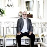 Johan Schlüter i hans hjem på Esplanaden. Topadvokaten er netop blevet erklæret konkurs.
