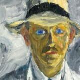 Blandt de fundne kunstværker er blandt andet også kunsteren Emil Nolde, der her ses på et selvportræt fra 1917. - Arkivfoto