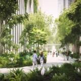 Singapore er et af verdens førende lande, når det kommer til bæredygtighed og natur i byen, og her passer det nye BIG-byggeri perfekt ind. Foto: PR