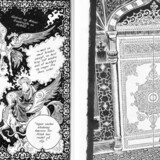 Også profeten Muhammed optræder i tegneserien med ansigtet skjult bag slør, sådan som mellemøstlig tradition påbyder det.