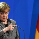 German Chancellor Angela Merkel gives a news conference following talks with the Algerian Prime Minister in Berlin on January 12, 2016. / AFP / TOBIAS SCHWARZ