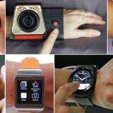 Smarture med andre funktioner end blot at vise tiden har været længe undervejs. I midten øverst ses et Dick Tracy-radiour fra 1960erne. Øverst til venstre Samsungs Gear S, øverst til høre Samsungs Gear 2-ur. Nederst fra venstre Motorolas Moto, Samsungs Galaxy Gear og LGs G Watch R. Arkivfoto: Reuters/Scanpix