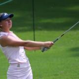 Emily Kristine Pedersen deltog natten til søndag dansk tid i den første af to finalerunder i majorturneringen US Open. Jasen Vinlove/Ritzau Scanpix