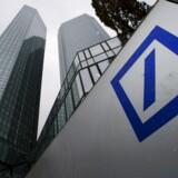 Deutsche Banks hovedkvarter i Frankfurt. Arkivfoto.