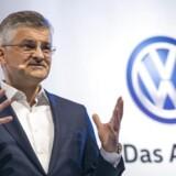 Volkswagens amerikanske direktør Michael Horn skal forklare sig for den amerikanske kongres. Han indrømmer at have kendt til svindel med dieselbiler. Arkivfoto.