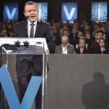 Venstre afholder i weekenden deres landsmøde i Herning Kongrescenter. Her ses ved åbningen lørdag Venstres formand, statsminister Lars Løkke Rasmussen tale til landsmødet.