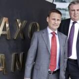 Direktør Kim Fournais og direktør Lars Sejer Christensen i Saxo bank