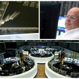 Billeder fra den tyske børs i Frankfurt.