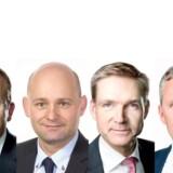 Lars Løkke Rasmussen, Formand, Venstre, Søren Pape Poulsen, Formand, de Konservative, Kristian Thulesen Dahl, Formand, Dansk Folkeparti og Anders Samuelsen, Partileder, Liberal Alliance.