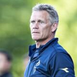 Vendsyssels assistenttræner Mogens Krogh (og sportsdirektør) i Alka Superliga nedryknings playoffkampen mellem Vendsyssel FF og Lyngby BK på Nord Energi Arena i Hjørring. 24.maj 2018.. (Foto: Henning Bagger/Ritzau Scanpix)