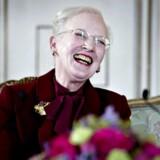 Dronningen afholder pressemøde i Havesalen på Fredensborg Slot i forbindelse med Hendes Majestæts 75-års fødselsdag