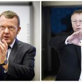 Statsminister Lars Løkke Rasmussen og Mærsk-topschef Nils Smedegaard Andersen.