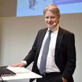 Nordeas adm. direktør, Casper von Koskull, præsenterer selskabets regnskab.