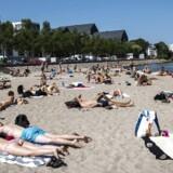 Svanemøllen strand i København d. 19 juli. Søndag den 22. juli 2018 var den 50. sommerdag i Danmark i år, hvilket vil sige en dag med 25 grader eller derover et sted i landet.