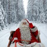Hvoir bor julemanden? Her set i nærheden af Rovaniemi i Finalnd.