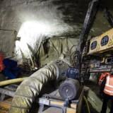 Metrobyggeriet på Nørreport er ramt af endnu en forsinkelse, da der trænger vand ind i den tunnel, der skal ende som trappen fra perronen op til Frederiksborggade. Foto: Simon Skipper