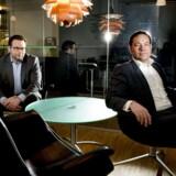 Partner Allan Bach Pedersen (til venstre) og managing partner Jan Johan Kühl (til højre) fra kapitalfonden Polaris.