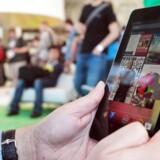 Det er tavle-PCer med Android - som her en Nexus 7-model -, der er verdens mest udbredte i 2013, viser friske tal fra analysehuset Gartner. Footo: Mathew Sumner, Getty/AFP/Scanpix