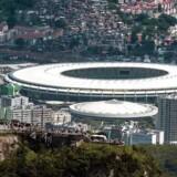 Luftfoto af Rio de Janeiro. I centrum ses det store Maracan stadion, der skal huse VM-finalen og bruges ved OL i 2016.