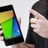 Googles Nexus 7 med en skærm på syv tommer er i den populæreste størrelse blandt tavle-PCer. Arkivfoto: Beck Diefenbach, Reuters/Scanpix