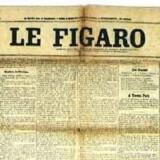 Manifestet på forsiden af det franske dagblad »Le Figaro« 1909.