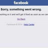 Denne meddelelse bliver brugere af Facebook mødt med tirsdag morgen.