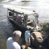 Rejselivs udsendte var skam også ude på en traditionel safari, hvor man kører ud på savannen i bil, men bådturen på Nilen var en helt anderledes intens oplevelse.