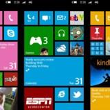 Windows Phone fra Microsoft får nu en ordentlig opstramning, og allerede startskærmen er ændret i design, så den ligner det kommende Windows 8 endnu mere. Foto: Microsoft