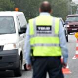 Arkivfoto fra 2011. Grænsekontrol ved den dansk-tyske grænse ved motorvejen i Frøslev.