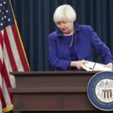 Federal Reserve Chair Janet Yellen speaks during a press conference following the announcement of an historic rate increase, the first since 2006, in Washington, DC, December 16, 2015. The Federal Reserve announced Wednesday its first interest rate increase in more than nine years in a landmark move signaling the US has finally moved beyond the 2008 crisis. The Fed raised the benchmark federal funds rate, locked near zero since the Great Recession, by a quarter point to 0.25-0.50 percent, saying the economy is growing at a moderate pace and should accelerate next year. AFP PHOTO / SAUL LOEB