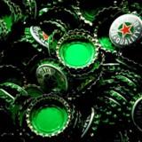 Arkivfoto: Heineken ølkapsler. EPA/KOEN VAN WEEL
