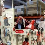 Helle Thorning-Schmidt besøgte tirsdag virksomheden Nilpeter i Slagelse.
