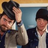 Erik Clausen og Kim Larsen i filmen »Midt om natten« fra 1984. Nu bliver filmen til musical. Foto: PR.
