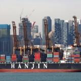 Hanjin Hungary container ship is docked at PSA's Tanjong Pagar terminal in Singapore September 28, 2016. REUTERS/Edgar Su