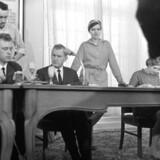 Venstresocialisterne holder stiftende møde efter bruddet med SF i 1967.