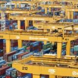 Koreanske Hanjin Shipping's containerterminal i Busan er gigantisk. Selskabet bekræfter, at det er en del af en konkurrencesag i EU.