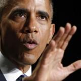 Barack Obama talte ved the National Prayer Breakfast i Washington. Foto: Kevin Lamarque/Reuters